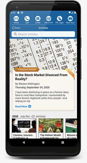 IFA App Android Articles