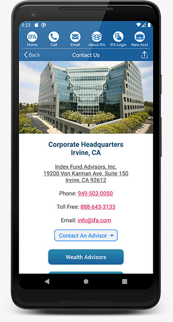 IFA App Android Contact Us