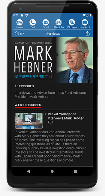 IFA App Android Mark Hebner Videos