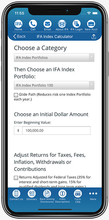IFA App Index Calculator