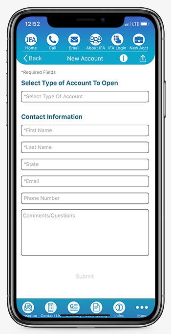 IFA App Open Account