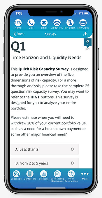 IFA App Risk Capacity Survey