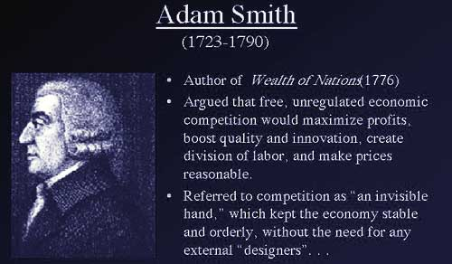 adam smith an inquiry into the wealth of nations summary