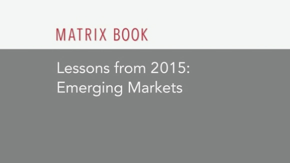 Lessons from 2015: Emerging Markets