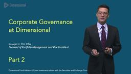 Joe Chi on Corporate Governance: Part Two