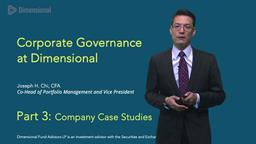 Joe Chi on Corporate Governance: Part Three