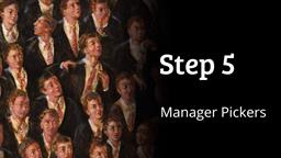 Index Funds: Step 5 - Manager Pickers