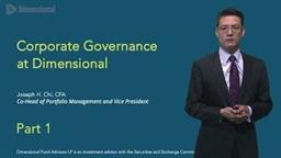 Joe Chi on Corporate Governance: Part One